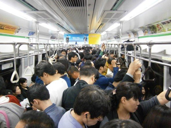 Just 30 Minutes : Faces on a Crowded Train are Real People