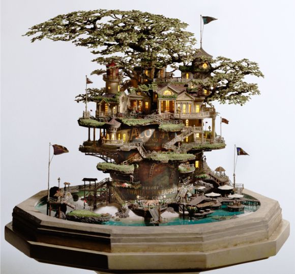 Ninja Restaurant Designer Creates Tiny Villages In Bonsai Trees Japan Today