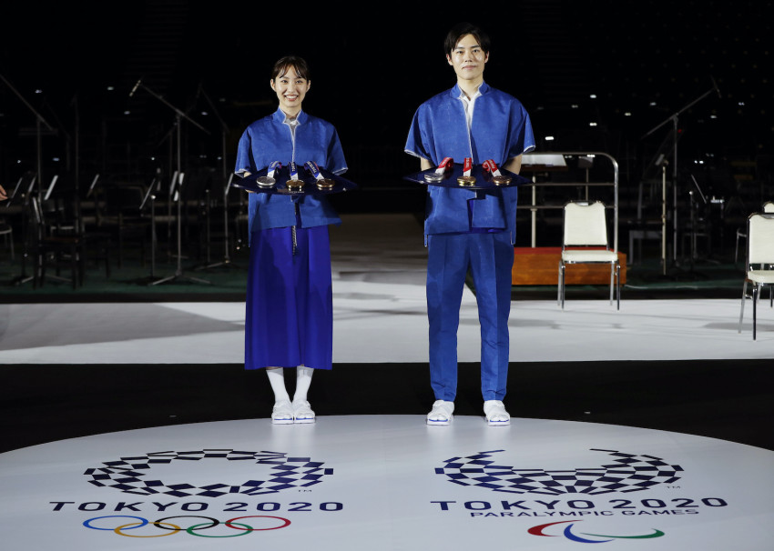 Eco-friendly Tokyo Olympic podium, medals, music unveiled - Japan Today