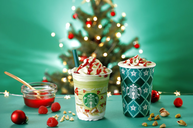 pistachio christmas tree frappuccino drinks japan today
