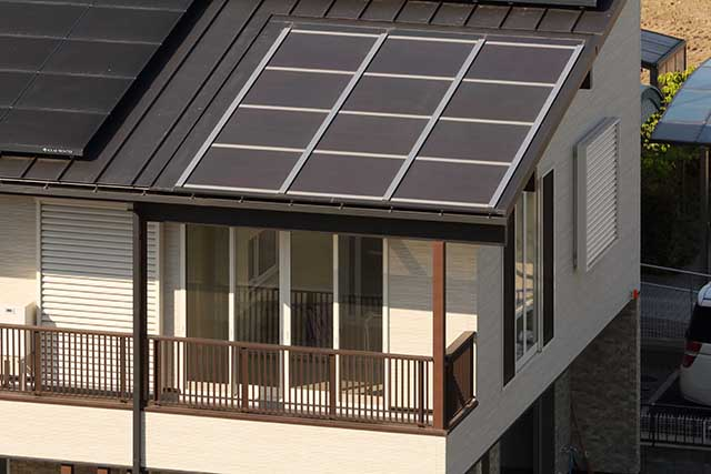 See Through Solar Panels Installed At Private House