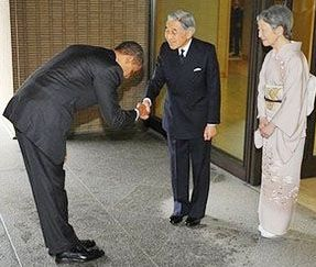 Obamas bow to emperor causes outrage in washington japan today politics m4hsunfo