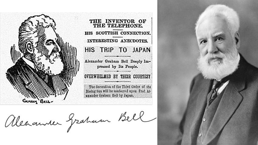 Alexander Graham Bell visits Japan, 1898