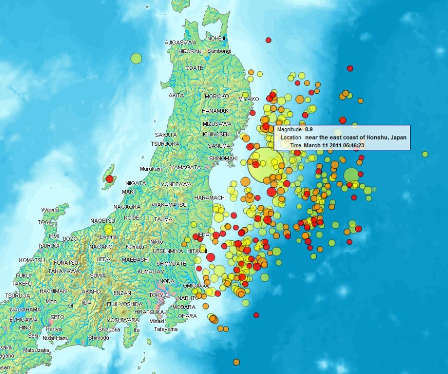 Scientist Predicts Another Major Earthquake In Japan By - Japan map earthquake