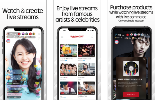 Rakuten launches live video streaming service by BeLive Technology