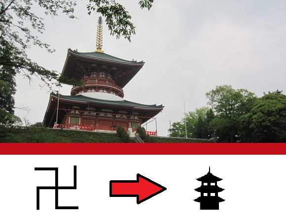 Group Urges Changing Buddhist Temple Mark On Maps To Avoid Nazi