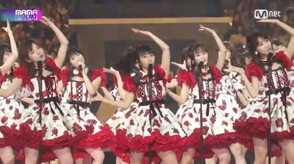 AKB48 and S Korean idol groups perform hits at music awards